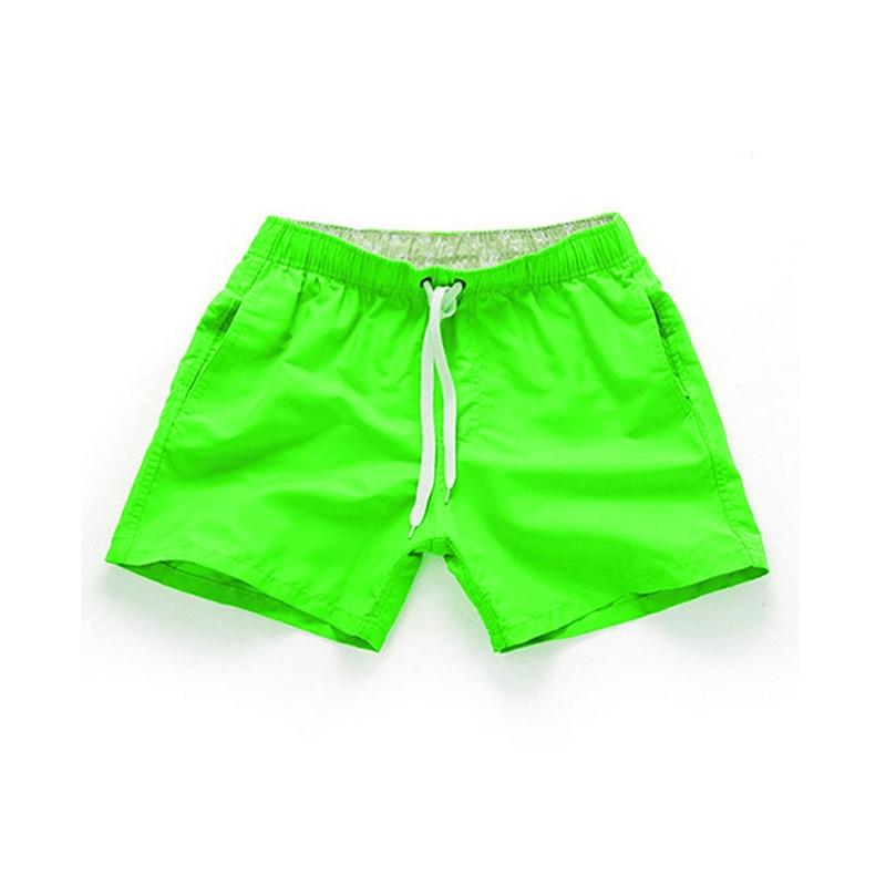 Summer Men's Shorts Casual Mid Waist Beach Shorts Solid Straight Drawstring Shorts Four Colors S-2XL