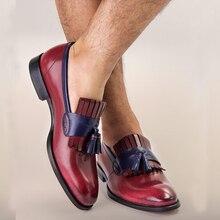 Мужская официальная обувь; мужские туфли-оксфорды из натуральной кожи; Цвет Черный; коллекция года; модельные туфли; свадебные туфли; Кожаные броги без застежки