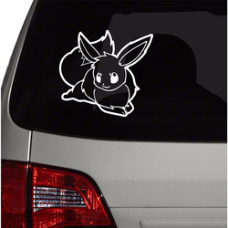 Pokemon Eevee Wall Decal For Car Window Decoration Cute Vinyl Waterproof Sticker Car Bumper Laptop Notebook Decor C187