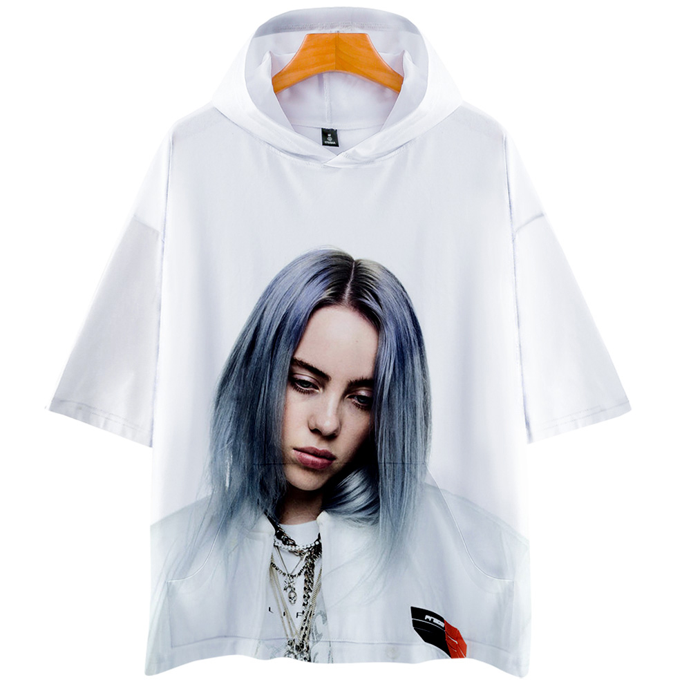 Billie Eilish 3D Hoodies 2019 New Short sleeve Fashion Summer/Spring T-shirt Cool and breathable Short Sleeve T-Shirt