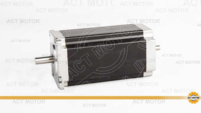 ACT Motor 1PC Nema23 Stepper Motor 23HS2430B Dual Shaft 4-Lead 425oz-in 112mm 3.0A Bipolar 8mm-Diameter US UK DE FR IT JP Free act motor 1pc nema23 stepper motor 23hs8430 4 lead 270oz in 76mm 3 0a bipolar ce iso rohs us ca uk de it fr sp be jp free