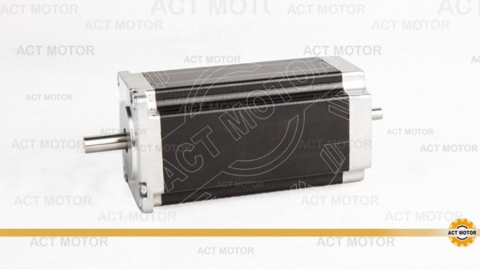 ACT Motor 1PC Nema23 Stepper Motor 23HS2430B Dual Shaft 4-Lead 425oz-in 112mm 3.0A Bipolar 8mm-Diameter US UK DE FR IT JP Free