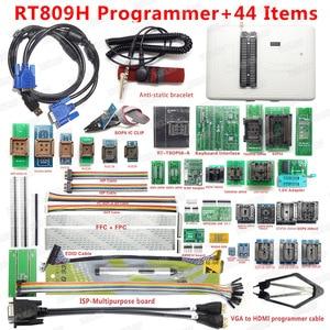 Image 1 - RT809H EMMC Nand フラッシュユニバーサルプログラマ + 44 アイテムと EDID LCD CABEL HDMI VGA ISP ボード EMMC  Nand 送料無料