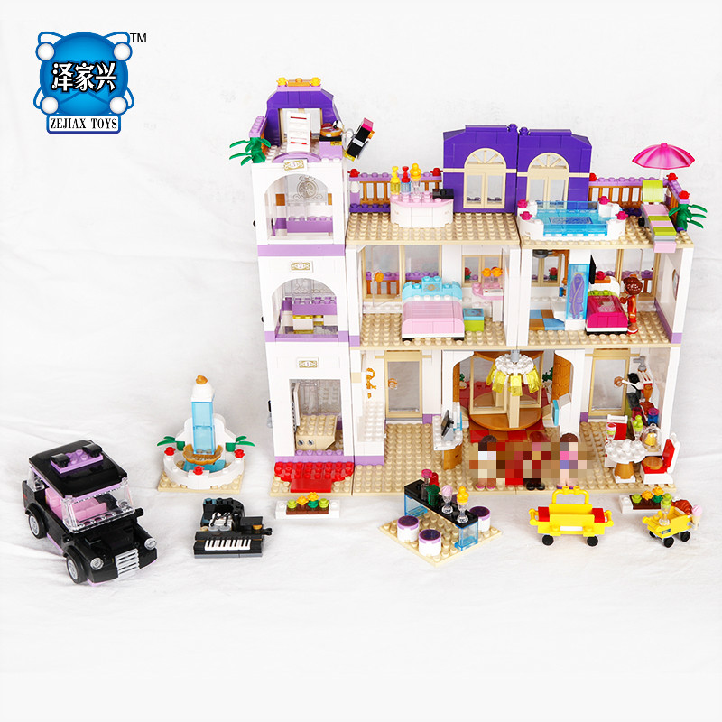 Hot My Good Friends Girls Clubs Heartlake Grand Hotel Building Block Andrea Stephanie Figures Cars Bricks Lepins Toys for Kids hot city series aviation private aircraft lepins building block crew passenger figures airplane cars bricks toys for kids gifts