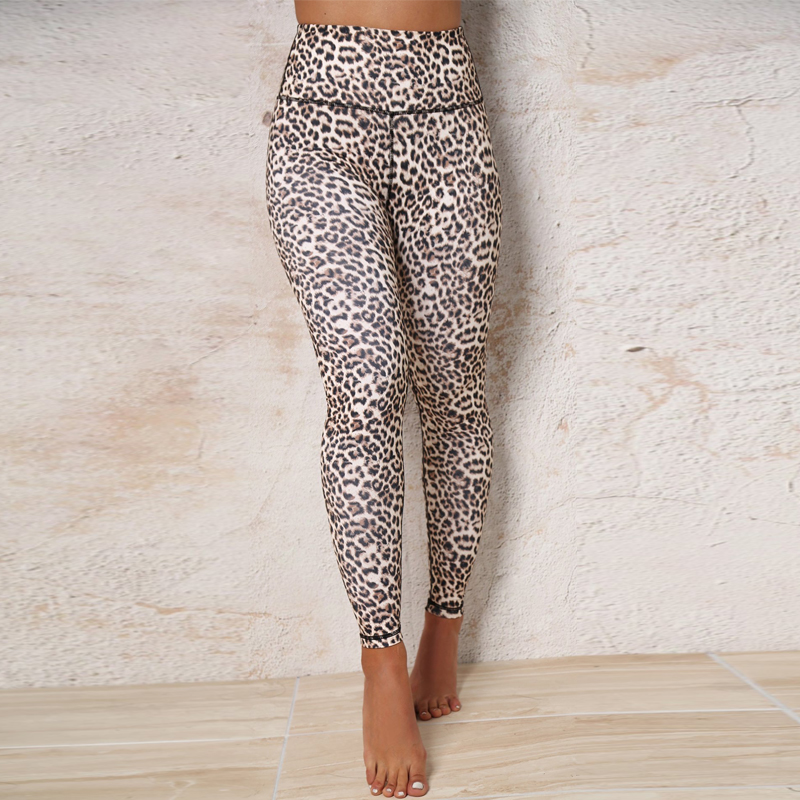 Hugcitar high waist leopard Sexy Push Up Leggings 2018 summer women Workout Polyester fitness trousers Activewear Slim casual pa 20