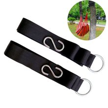 Hammock Bed Tree Strap Nylon Hanging Strong Rope Camping Tool Belt with 2 Hooks Kit 300cm x 5cm Heavy-duty