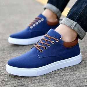 Image 2 - Nouveauté printemps été confortable chaussures décontractées hommes chaussures en toile pour hommes marque de mode mocassins plats chaussures