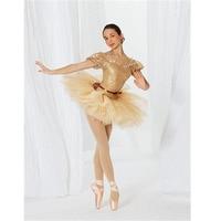 Vàng shining ballet tutu dress cho phụ nữ hoặc trẻ em, ballet tutus trang phục múa ba lê người lớn tutu ballerina unitard dance mang drop ship