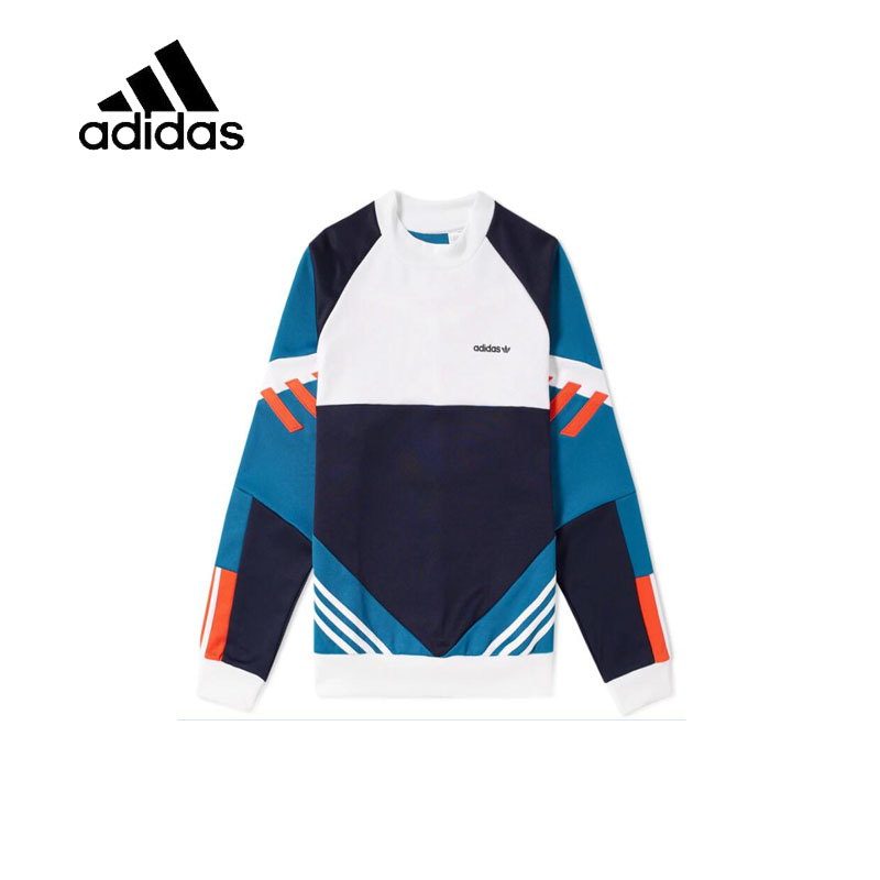 Original New Arrival Official Adidas Men's Breathable Pullover O-Neck Leisure Comfortable Sportswear Good Quality CE4851 original new arrival official adidas women s jacket breathable stand collar leisure sportswear