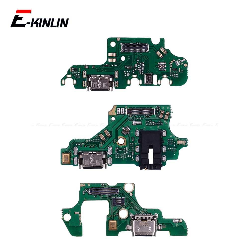 Conector de carga de alimentación enchufe Puerto Dock Board micrófono Flex Cable para HuaWei Nova 5i 4e 4 3 3i 3e 2 2S 2i Plus Lite 2017 jóvenes