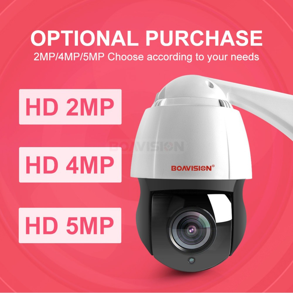 New 4.5 Inch HD 1080P 4MP 5MP PTZ IP Camera Outdoor Network Onvif Speed Dome 30X Zoom Lens PTZ Camera CCTV 150m IR Night Vision