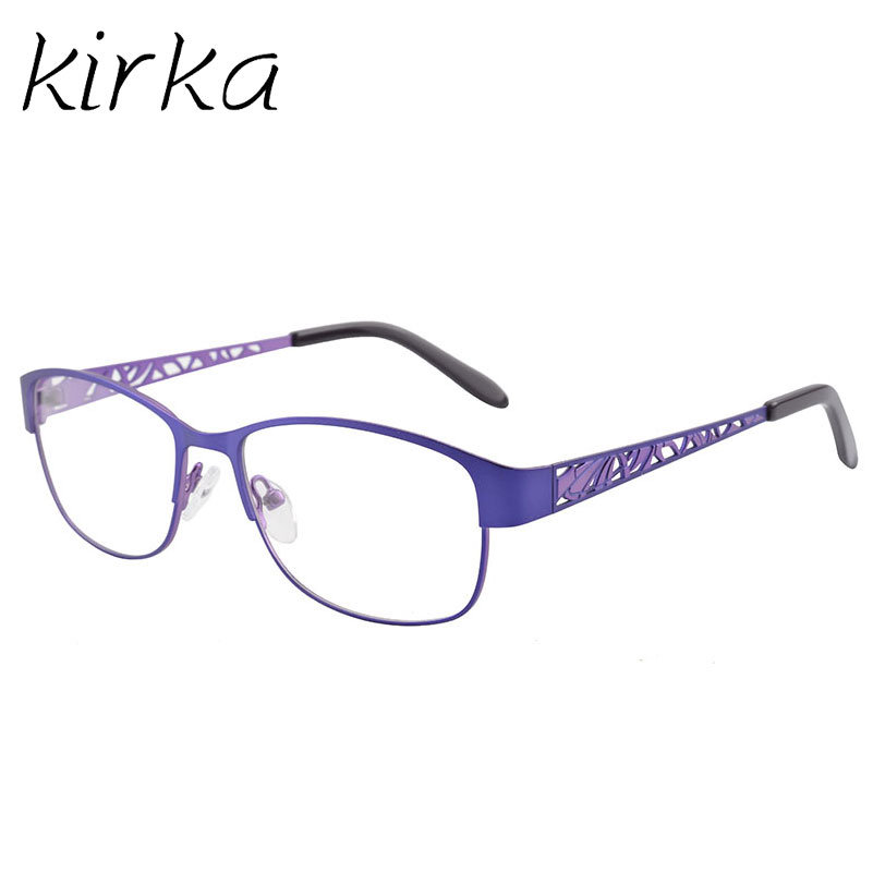 Kirka Metal Purple Elegant Glasses Frame Women Eye Frames Fashion ...
