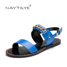 Sandals for woman Summer 2017 New model High quality ECO Leather Fashion Casual flats shoes 36-41 Free shipping NAYTILYE