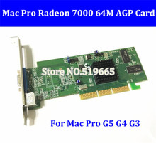 Free Shipping Original for Mac G3 G4 G5 graphic card Radeon 7000 64MB AGP Video Card VGA 2X /4X/ 8X for Mac Pro G5 G4 G3