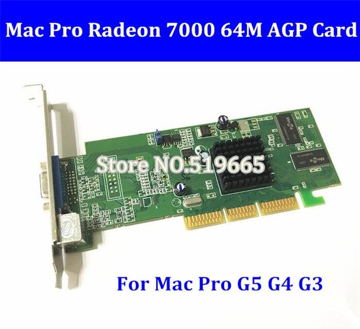 Livraison gratuite Original pour Mac G3 G4 G5 carte graphique Radeon 7000 64 mo AGP carte vidéo VGA 2X/4X/8X pour Mac Pro G5 G4 G3