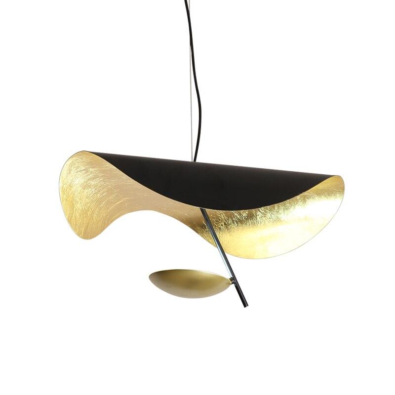 Honest Customized Designer Ufo Creative Pendant Light Lustre Gold Foil Metal Dia.60cm Luminaria Black Pendant Lamp Droplight Fixtures Ceiling Lights & Fans