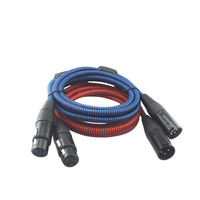 A Pair HIFI XLR 3 Pin Male to XLR Female Audio Cable For Mixer Microphone Speaker Interconnect