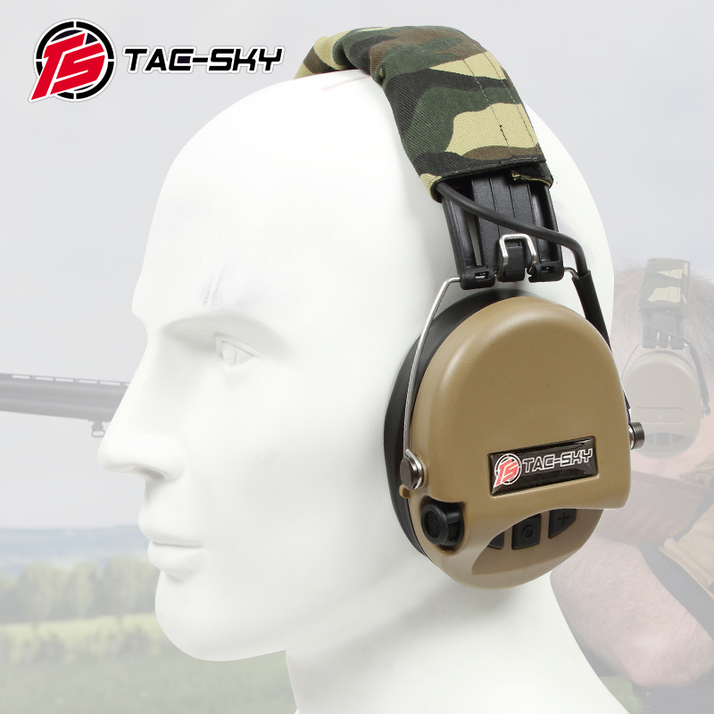 TAC-SKY SORDIN IPSC Silicone Earmuffs Version Tactical Electronic Shooting Hearing Protection Noise Reduction Pickup Headphones