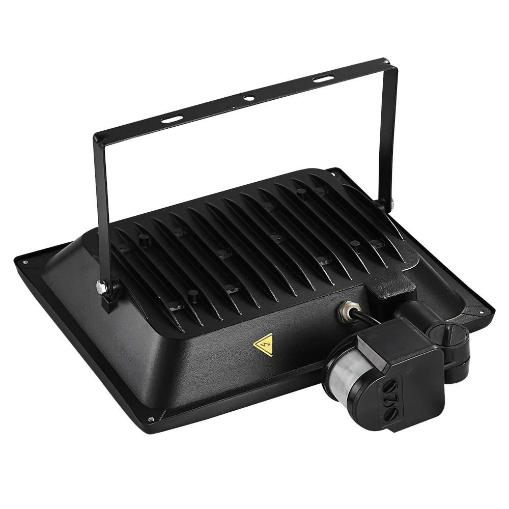 2 Pcs 100 W PIR Infrarouge Motion Sensor Lumière D'inondation 220 V-240 V 11000LM PIR Infrarouge Capteur Projecteur LED Lampe Pour L'éclairage Extérieur - 2