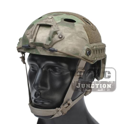 Emerson Tactical Airsoft Fast Bump PJ Helmet Advanced Adjustment Combat Lightweight Modular OPS Helmet w/ NVG Shroud + Side Rail 2015 new kryptek typhon pilot fast helmet airsoft mh adjustable abs helmet ph0601 typhon