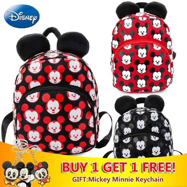 7db596dc63d0 2018 Disney Kids Mickey Mouse Girls School Bag Backpack Children Cute Boy  Backpacks New Polyester Oxford Cartoon Disney Toys Bag
