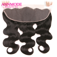 Annmode Malaysian Body Wave Human Hair Lace Frontal Closure 13*4 Free Part Free Shipping 100% Non-Remy Hair