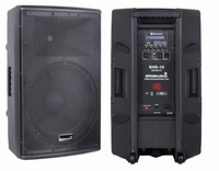 STARAUDIO 15 Inch Class D Active Powered Pro PA DJ 4000W 4 Ohm 2 Way Stage Audio Bluetooth Speaker SHD 15