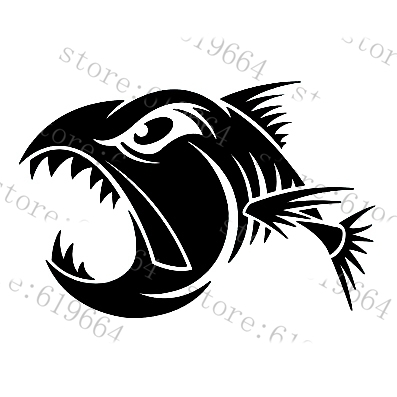car styling Car decals aggressive fish car motorcycle