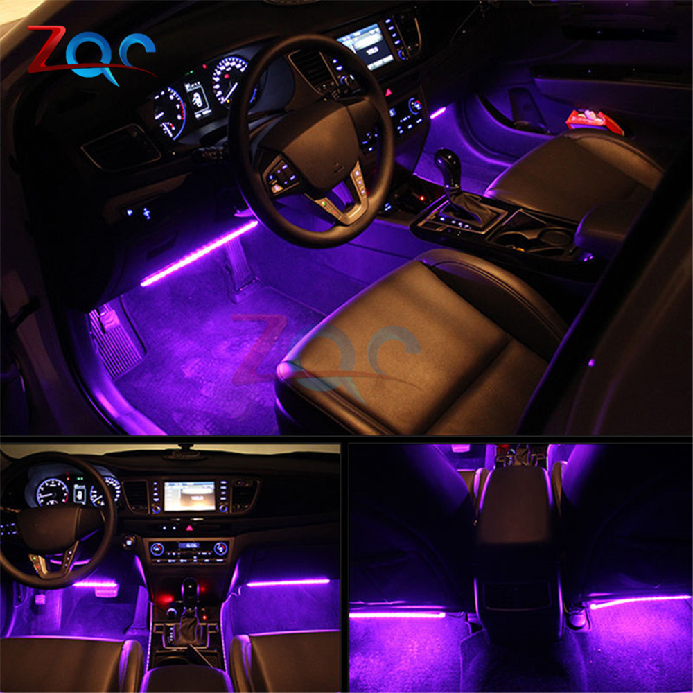 Led Per Auto Interni.Us 7 18 10 Off Auto Interni Rgb Colour 9 Led Strip Light Kit Wireless Music Control 7 Color Remote Control Atmosphere Lights 1 For 4 In Led Strips