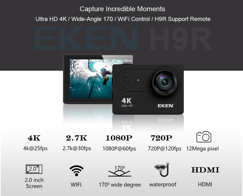 4K Best Action Camera features