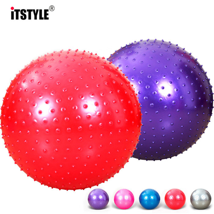 Latest Collection Of Itstyle Sports Yoga Balls Point Fitness Gym Balance Fitball Exercise Pilates Workout Barbed Massage Ball 55cm 65cm 75cm 85cm Strong Resistance To Heat And Hard Wearing