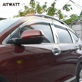 AITWATT For Honda CRV CR-V 2012 2013 2014 2015 2016 Stainless Steel Window Trims Center Pillars Covers 6Pcs/set Car Accessories