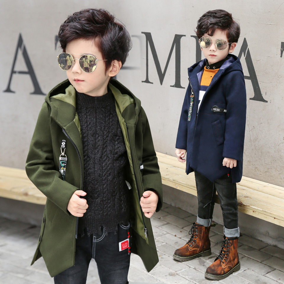 Winter Boys Jackets For Children Hooded Cute Windproof Kids Coats Baby Boys Clothes 3 4 6 8 10 12 Yrs Outerwear Boys Clothing