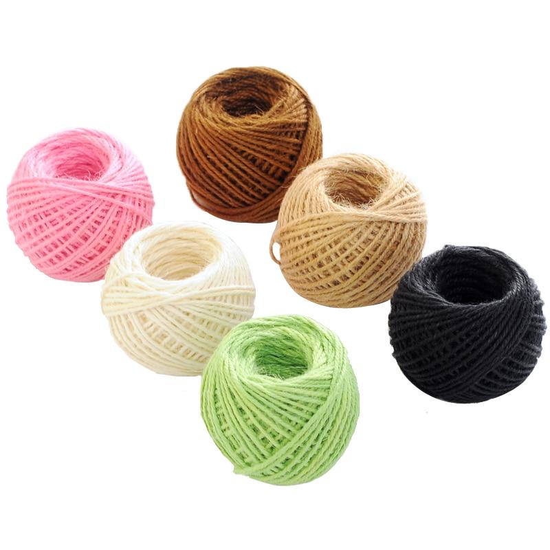 1 Roll Colorful Natural Brown Jute Hemp Rope Twine String Cord Shank Craft Lamp Making Diy 2mmx50m Home & Garden