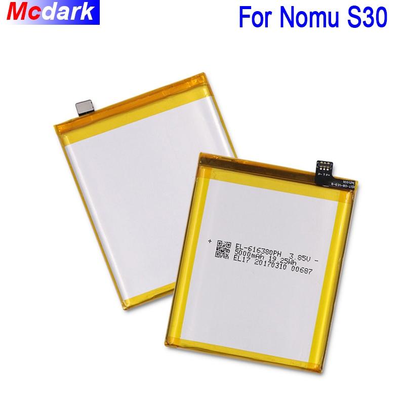 Mcdark 5000 mAh Polymère Batterie Pour Nomu S30 Batterie Bateria Accumulateur AKKU ACCU PIL Mobile Téléphone