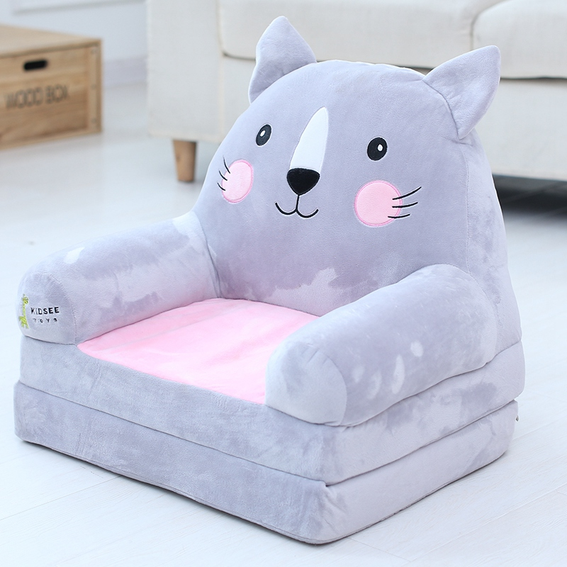 Cartoon Foldable Kids Sofa PP Cotton Sofa Bed Lazy Tatami