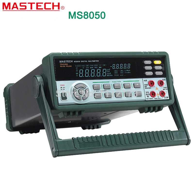 MASTECH MS8050 5 1/2 Multimetro Digitale 53 k Conti di Alta Accurayc Panca/Vero RMS con carry box