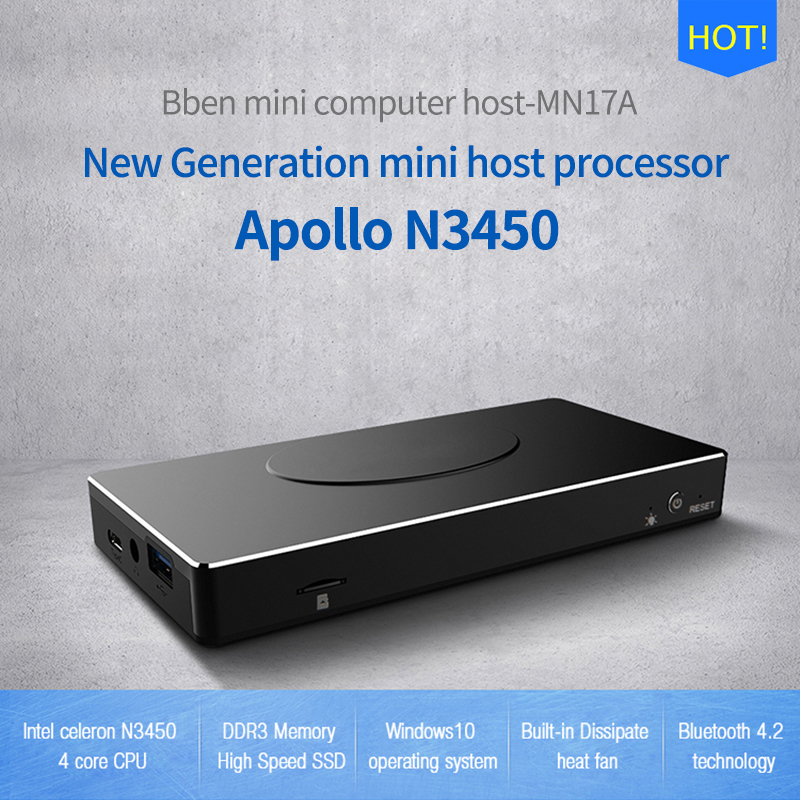 Bben windows 10 mini ordenador intel pc stick mini pc cereza Trail Z3450 2 GB/4