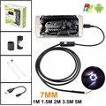 7MM Mini Android USB Endoscope Camera 2M 1.5M 1M 3.5M 5M Waterproof Snake Tube inspection Android OTG USB Borescope Camera