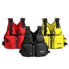 Красный/желтый/черный Регулируемый Нейлоновый спасательный жилет для взрослых жилет спасательный жилет для рыбалки с несколькими карманами