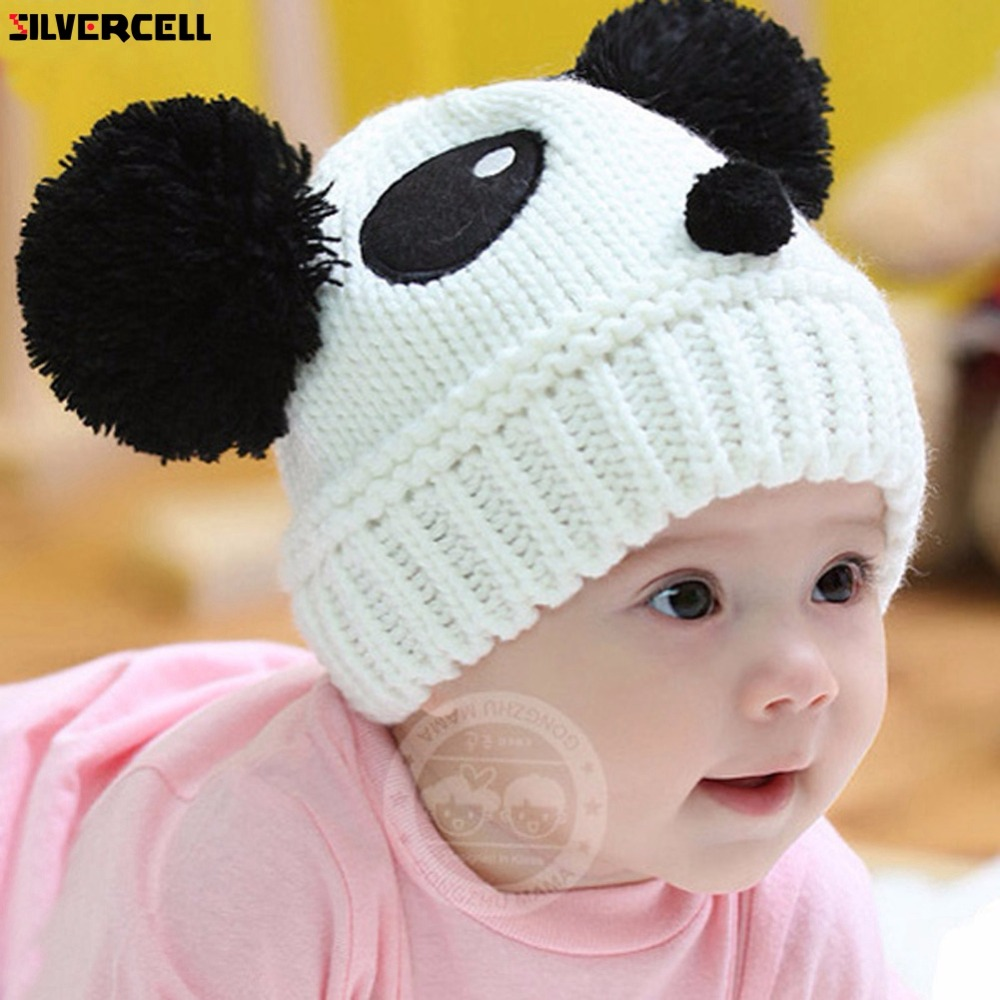 ᐊBebé niños dibujos animados Panda bola hecha a mano de punto de ...