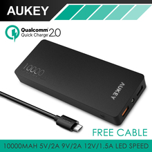 Aukey Carga Rápida 2.0 10000 mAh Batería Externa Portátil Cargador Rápido (20 W/5 V 9 V 12 V Quick power bank Cargador para Smartphone