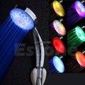 Новый Красочный Светодиодный светильник из нержавеющей стали Круглый дождь ванная душевая головка # Y05 # C05 #
