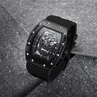 BAOGELA Top Brand Men Fashion Quartz Watch Mens Luxury Silver Skull Wristwatch Male Waterproof Clock Relogio Masculino for Aaron
