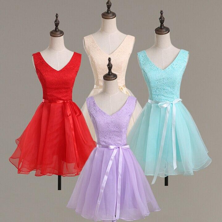 2018 nouvelle mode champagne junior demoiselles d'honneur xs taille courte soirée robes de demoiselle d'honneur pour les mariages en lilas livraison gratuite