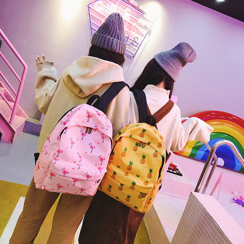 Girls College Wind Suit College Wind Casual Backpack Little Fresh Girl Travel Backpack Beautifully School Girl Canvas Backpack
