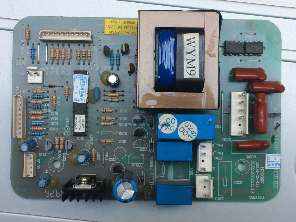 ФОТО BCD-258VBP 1100798 1100801 Refrigerator Board Tested