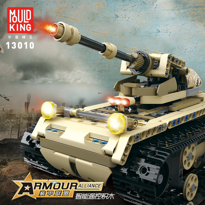 Mouldking Technic 13010 Armour Alliance Rc Blocks Military Series Armed Building Blocks Remote Control Truck Brick Tank