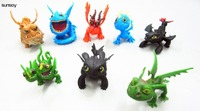8pcs/lot How to Train Your Dragon 2 movie toys toothless Aberdeen toothless dinosaur Night Fury dragon ornaments for your gift