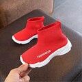 Детские повседневные кроссовки  удобная обувь  детская обувь для девочек  обувь для малышей  вязаные Нескользящие черные и красные кроссовк...